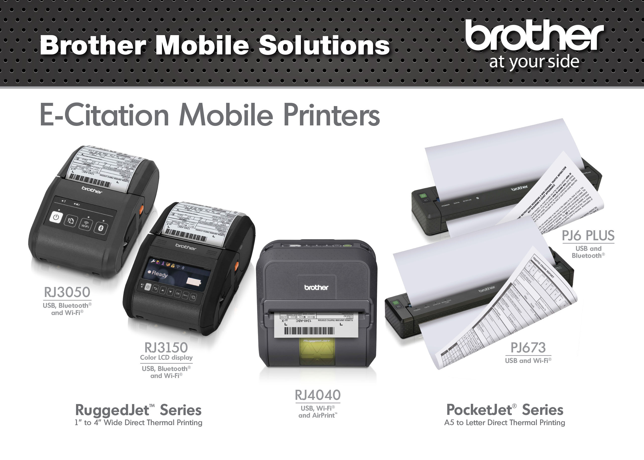 Full-page PocketJet(R) and small-format RuggedJet(R) mobile printers