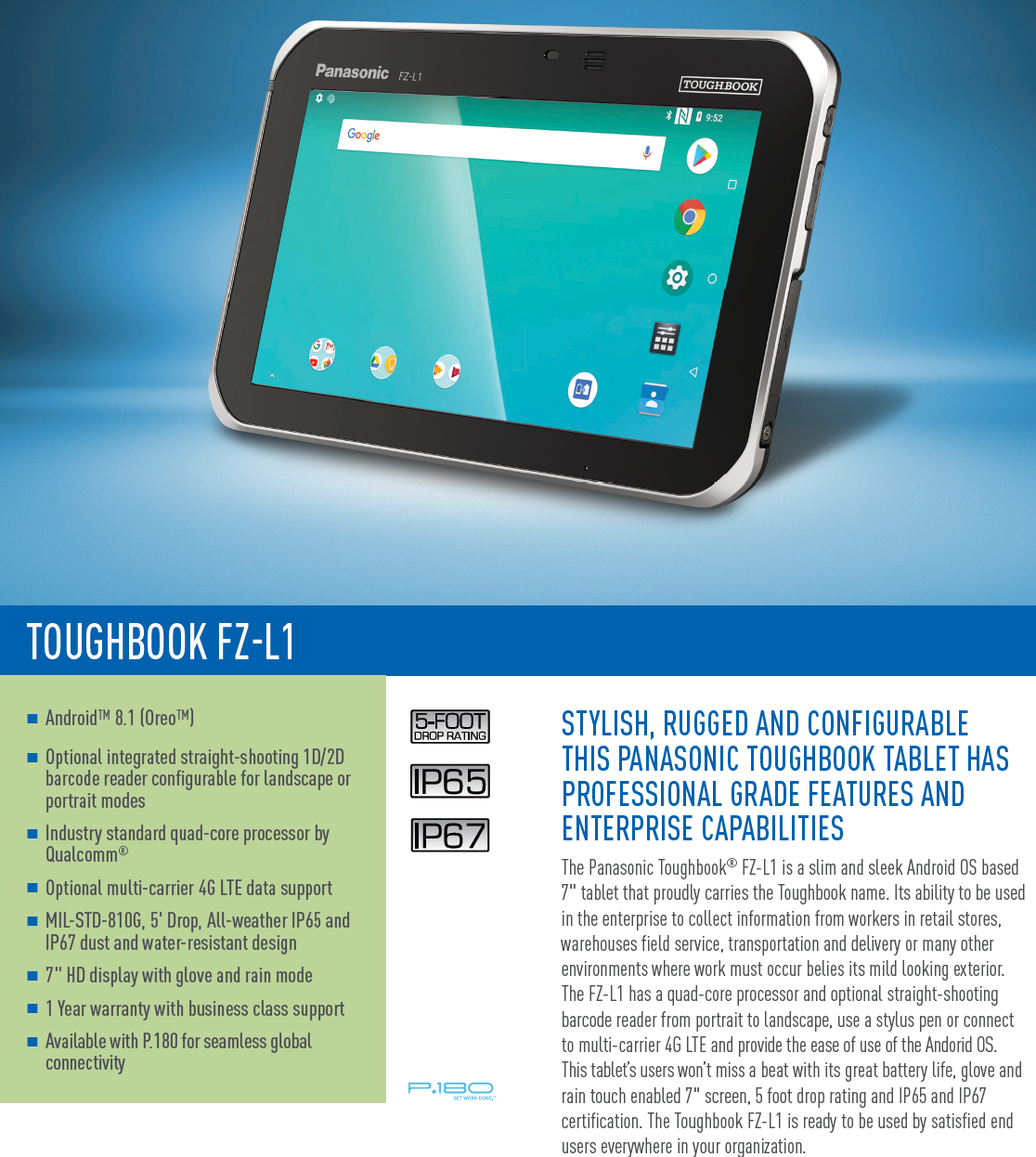 "Toughbook FZ-L1 Rugged Android 7"" Tablet"