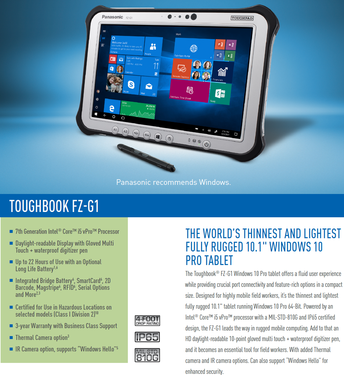 NEW - Toughbook G1 mk5