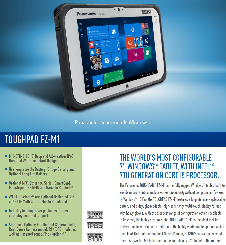 Panasonic Toughpad M1 mk3