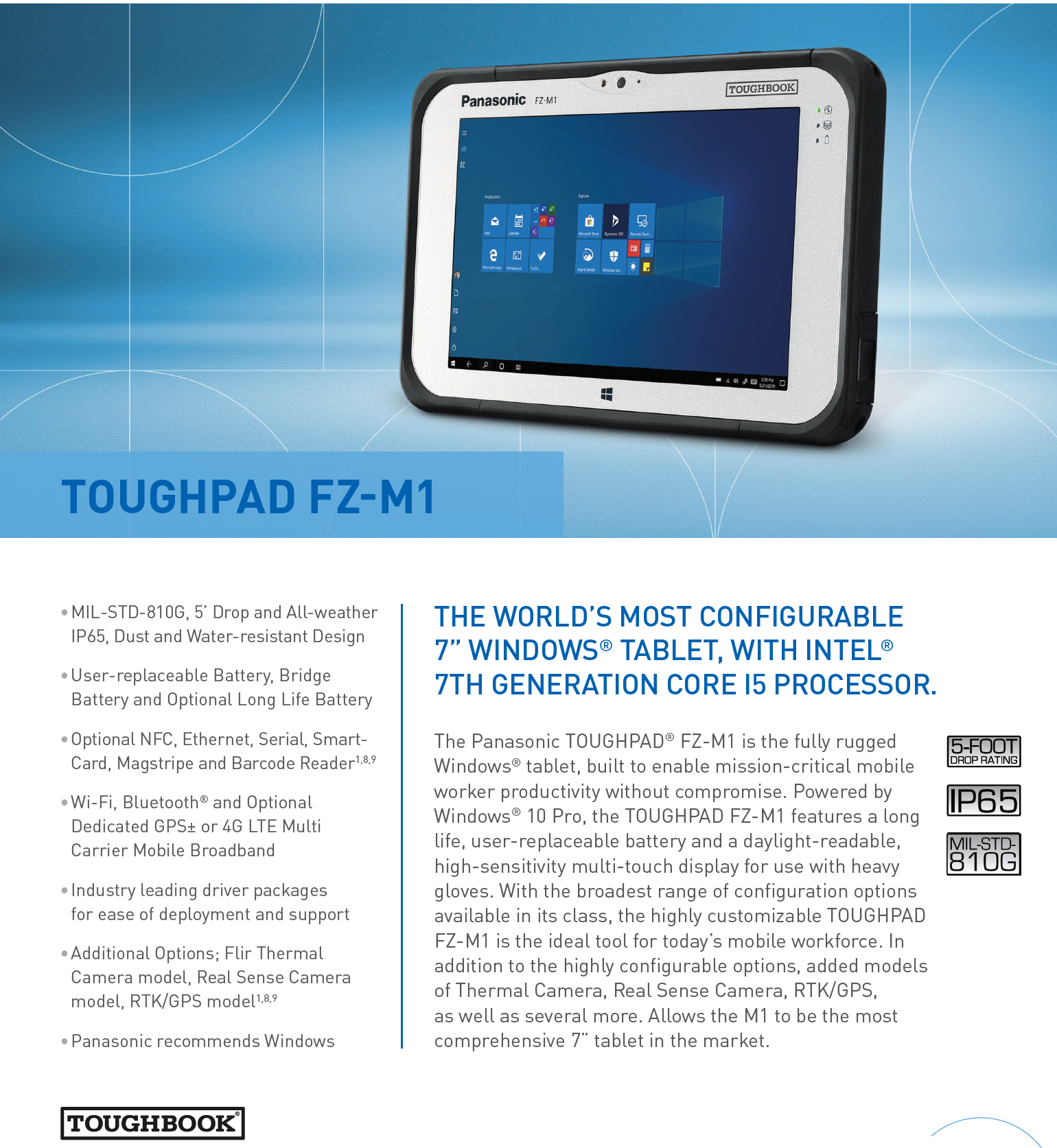 "TOUGHPAD FZ-M1 7'"" Rugged Tablet"