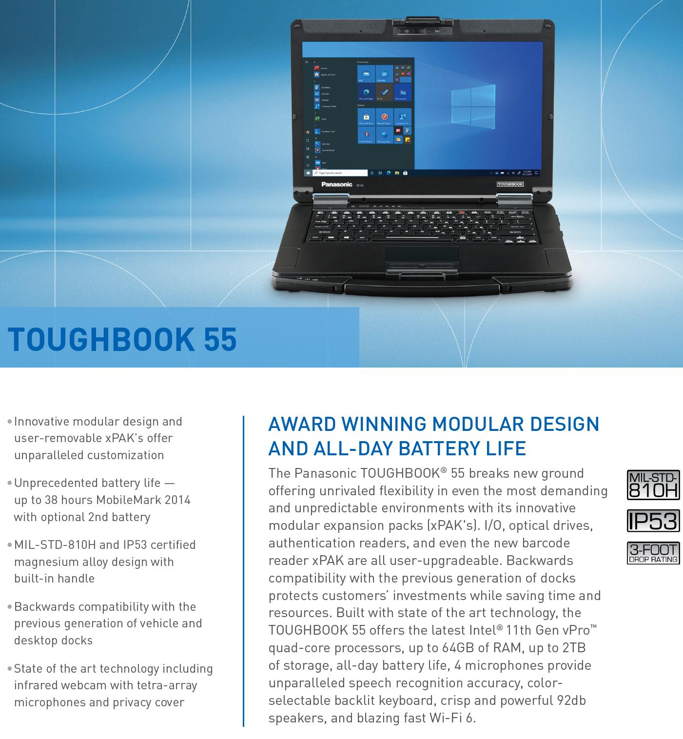 Panasonic TOUGHBOOK® FZ-55 mk2