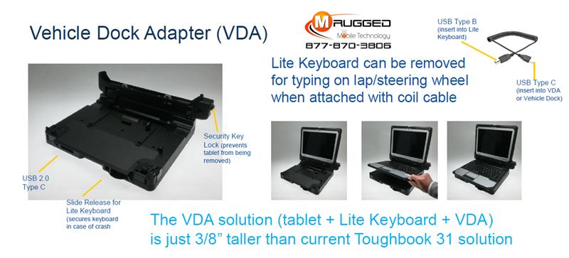 Toughbook 31 to 33 Vehicle Dock Adapter (VDA)