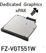 FZ-VGT551W - Dedicated Graphics xPAK (AMD Radeon Pro WX 4150) for FZ-55 Mk