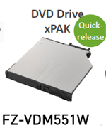 FZ-VDM551W - DVD xPAK for FZ-55 Mk1 Universal Bay Expansion Area