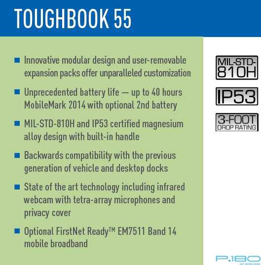 TOUGHBOOK 55 Quick Specs